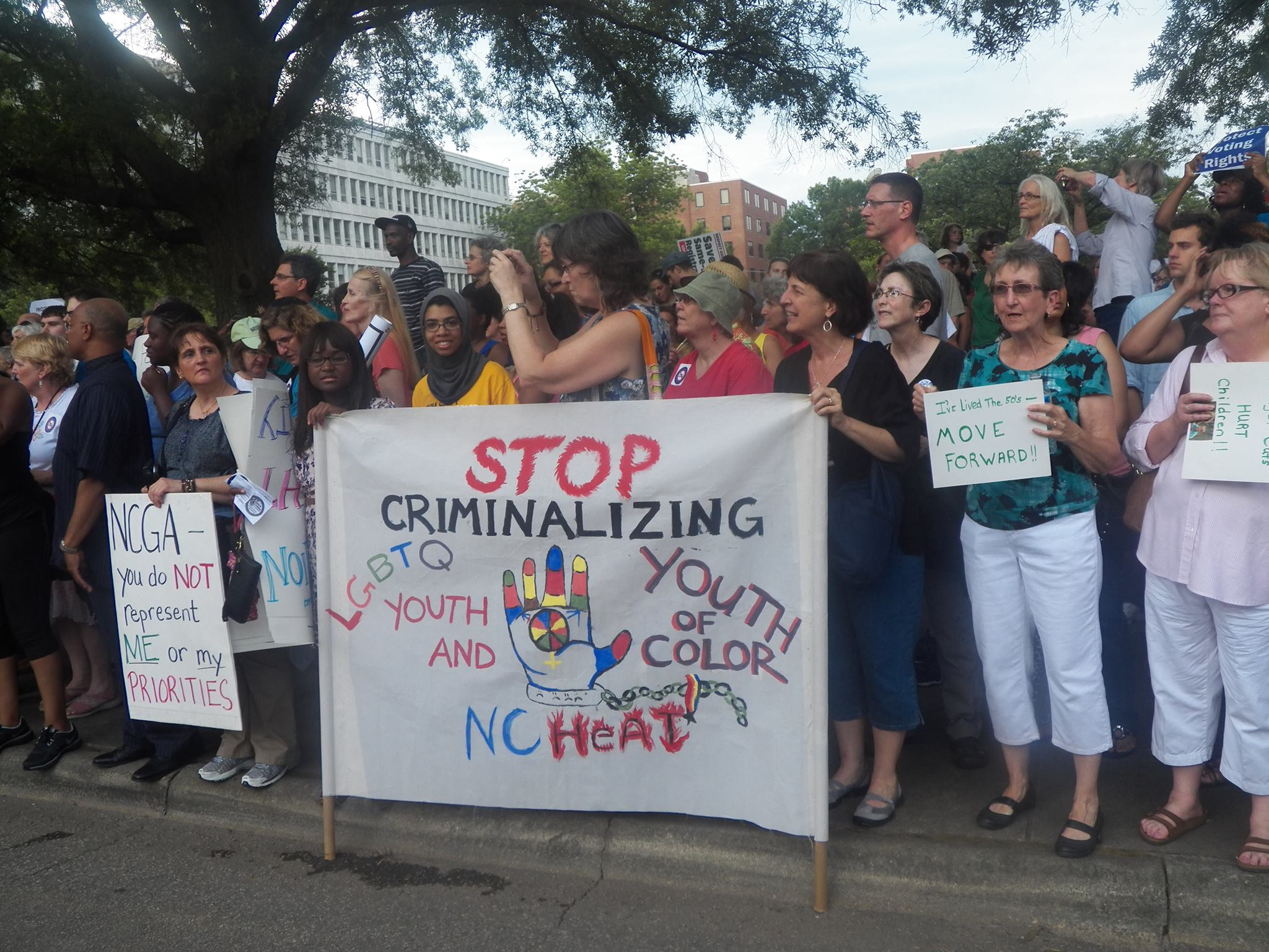 NC HEAT and the Youth Organizing Institute at Moral Mondays!